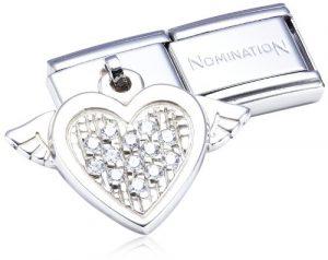 Nomination – 031711/15 – Maillon pour bracelet composable Femme – Coeur – Acier Inoxydable