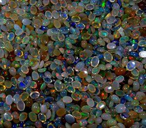 Radhey Krishna Gems 2000cts–Vente en gros Lot) Naturel Éthiopien Welo Multi Opale de feu de calibrage Mix Forme cabochon Pierre précieuse