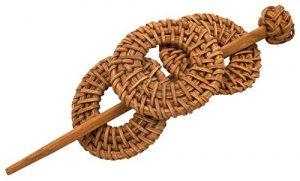Barrette à Cheveux Bambou Bois Ethnique Original Pince Pic Pique Chouchou Chignon