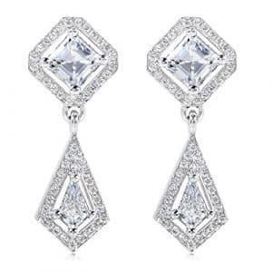 Diamant Boucles d'oreilles pendantes 15/8ct (CT) en or blanc 18K