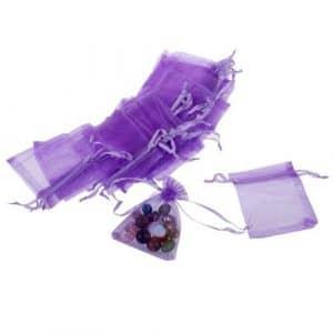 fitTek 100X Sachet Pochette Sac Organza 90x70mm Violet PR F¨ºte