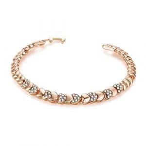 Godagoda Bracelet Chaîne Femme Fille Simple Alliage Or Strass Décoration Brillant Bijoux Fantaisie