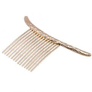 Jixing Cerf et lune Forme Peigne à cheveux en alliage Peignes Bijoux Décoration Cheveux Colliers de serrage Barrette à cheveux Brosse à cheveux pour femmes et filles 10 * 6cm Half Moon Gold