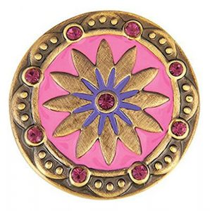 The Good Bead Ginger Snaps Laiton Boho Rose/Violet Sn0685 interchangeables Bijoux Snap Accessoire