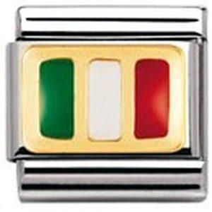 Nomination – 030234 – Maillon pour bracelet composable Mixte – Acier inoxydable et Or jaune 18 cts