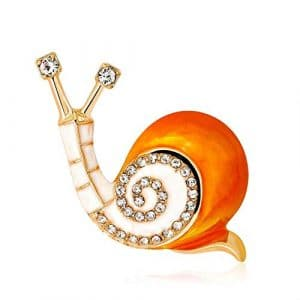 Hoveey 1pc Creative Escargot Image Corsage Charmante Broche Strass Unisexe
