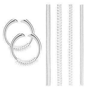 Cizen stringi Bague, 16pz adaptateurs pour Anneaux, régulateur Bague Invisible pour Anneaux Larges (4Dimensions: 1,5mm/1,8mm/2,7mm/2,8mm)