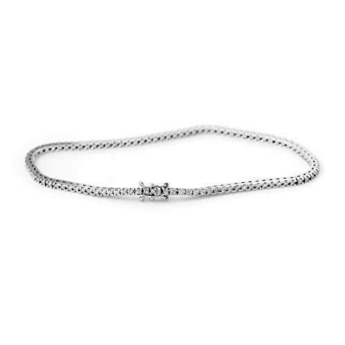 And You – & You – Bracelet rivière de pierres – Femme – Or Blanc 9 Carats (375) – Diamant HSI – AM18-9BRAC-TEN100-B