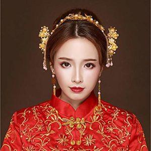 Cadeau femme/Boucles d'oreilles en alliage/Peignes à cheveux/Bâton pour cheveux avec casque de mariage acrylique