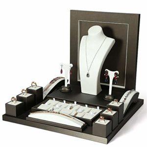 Zhengowen HO Organisateur de Bijoux Suspendus 15 pièces Bijoux Affichage Organisateur Ensemble Collier/Bague/Boucle d'oreille/Bracelet/Montre/Bracelet Affichage de Bijoux Porte-Bijoux Mural