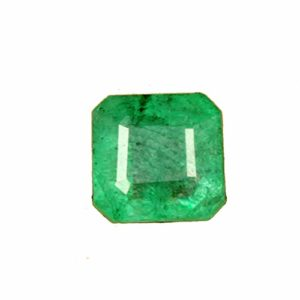 Émeraude verte 100% naturelle, émeraude verte certifiée Egl de 2,55 ct Egl, émeraude de qualité supérieure, pierre émeraude verte de forme carrée