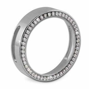 Amello Support pour pièces Coin Keeper 30mm pour bracelet Cristal Zircon Bijoux en acier ESC021W