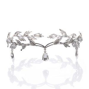 Pixnor Strass Cristal Diadème Épingle à cheveux fête de mariage