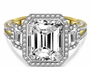 Addamas Femme Or 750 or jaune 750/1000 (18 cts) Moissanite