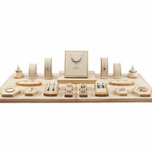Boîtes à bijoux et présentoirs Collier présentoir à Bijoux Porte-Boucle d'oreille Porte-Bracelet Porte-Broche Plateau à bagues (Color : Beige, Size : 110 * 45cm)