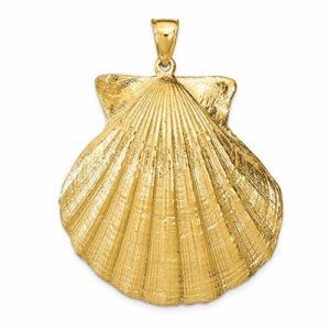 Breloque en forme de coquillage texturé en or 14 carats