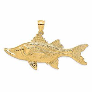 Breloque en forme de poisson tarpon en or 14 carats