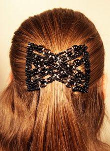 Mebella Pinces à cheveux extensibles style nœud pour femmes