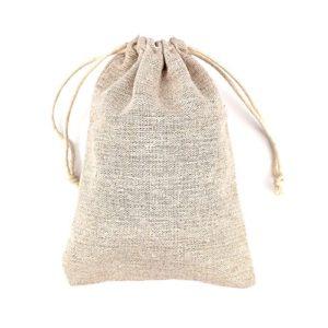 50 Pochette,Sachets en Lin, Sacs Mini sac cadeau,Sachets pour Fête de Mariage et Bricolage (L)