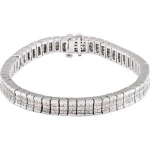 Beau bracelet en or blanc 14 carats avec diamants