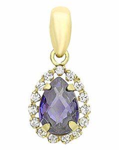 Carissima Gold – Pendentif Femme – 9 cts Or 375/1000 Or Jaune Oxyde de Zirconium