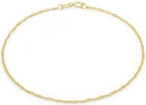 Carissima Gold Bracelet pour cheville Femme – Or Jaune 375/1000 (9 Cts) 0.28 Gr