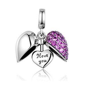 Charms Amour En Argent Sterling 925 Pour Bracelets Pandora