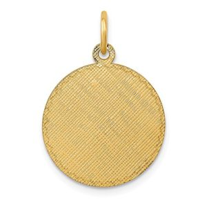 Diamond2deal 14 K Or Jaune à Motifs .013 Gauge Circulaire gravable Disc Charm