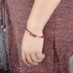 GEORGE · SMITH ❤ Cadeaux pour Maman❤ Bracelet Or Rose pour Femme Bracelets Ajustables avec Cristaux Swarovski Bracelet pour Dames Cadeaux d'anniversaire pour Femme Fille