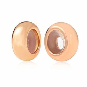 Globalwin Jewellery 2PC Espaceur/Stoppeur/Bloqueur Charms Argent 925 Silicone pour Pandora/Style Européen Bracelets