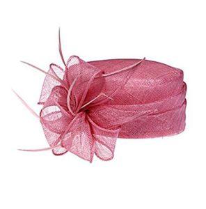 HFJ&YIE&H lin magnifique avec plumes mariage / lune de miel fête chapeau , black