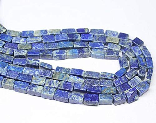 LOVEKUSH 50% Off Gemstone Jewellery 2 Strand Blue Lapis Luzuli Smooth Rectangle Chiclet Gemstone Loose Craft Beads 12″ 5mm 9mm Code:- RADE-20817