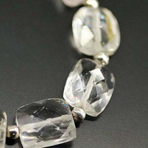 LOVEKUSH 50% Off Gemstone Jewellery White Kunzite Faceted Gemstone Loose Chiclet Rectangle Beads Strand 4″ 5mm 11mm Code:- RADE-27869