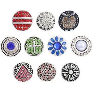 Morella click-button Lot de langage des fleurs 10Click boutons Multicolore