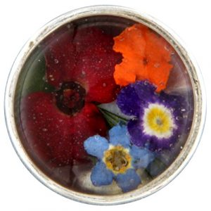 My imenso insignie Verre/Mini fleurs 14mm 14–1179