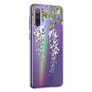 Oihxse Mandala Motif Case Compatible pour Xiaomi Mi CC9e/Xiaomi Mi A3 Coque Transparente Silicone TPU Souple Protection Etui Ultra Slim Mehndi Floral Datura Dentelle Housse Bumper (A10)