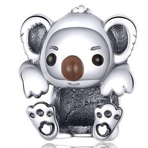 Reiko Bébé Koala Charms en 925 Argents,Breloques Européens et Pendant Convient à Bracelets Pandora&Chamilia