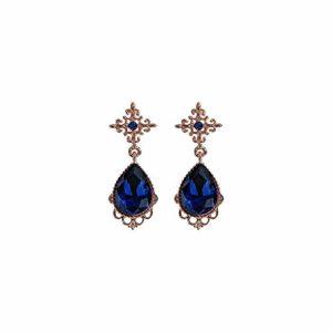 Women's Long Drop Earrings in Sterling Silver Boucles d'oreilles courtes saphir tempérament simple Hypoallergénique Beau et élégant cadeau SDHJMT