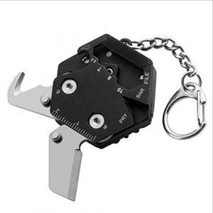 ZSLGOGO Portable Multifonction Porte-clés Pendentif Outil de Combinaison Pliable pour Camping Voyage Mini Tournevis Outil