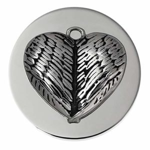 Amello pièces de coeur daile dargent de 30 mm en acier inoxydable déposants Mesdames Coin ESC529J