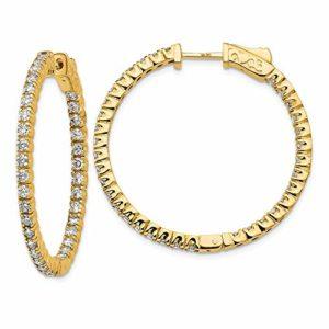 Boucles d'oreilles en or jaune 14 carats avec fermoir de sécurité