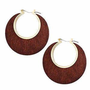 Boucles D'oreilles Pendantes FemmeVintage créatif Simple journal géométrique C-Type boucles d'oreilles bijoux pour femmes Cadeau Parfait,Anniversaire de Mariage