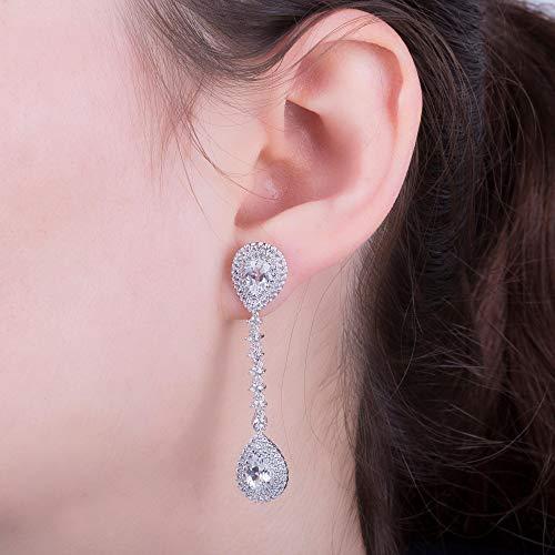 Fusion – Parure Boucles d'Oreille Femme – Or Blanc 18 Cts – Diamant 4.62 Cts