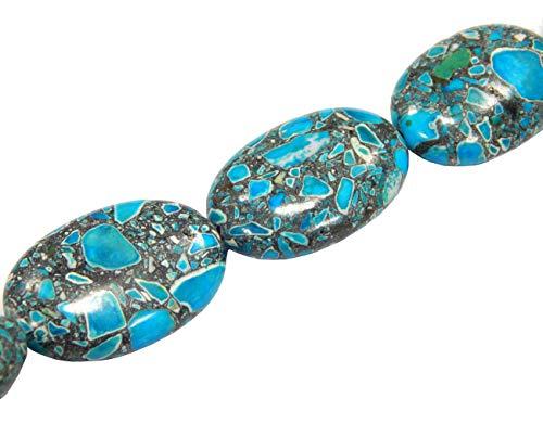G159 Pierre de Pierre précieuse Turquoise 28 x 18 mm Pierre précieuse Semi-précieuse Perles Ovales Bleu 14 Pierres précieuses précieuses précieuses précieuses Perles précieuses précieuses précieuses