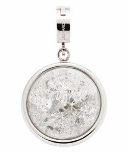 JEWELS BY LEONARDO femme pendentif Snowball Darlin's acier inoxydable/argent blanc Darlin's Clip grand boule de neige rond cercle balle 011283
