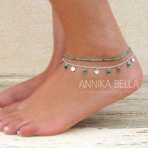 Jovono – Bracelet de cheville avec perles – Pour femme