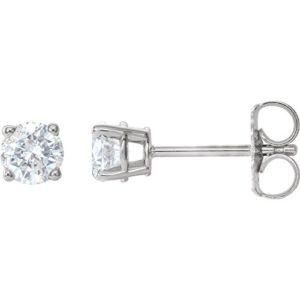 Magnifiques boucles d'oreilles à tige avec fermoirs en diamant 3/4 carats.