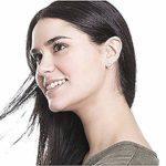 Mixiueuro Parure de bijoux pour femmes et filles en acier inoxydable plaqué or rose 14 carats avec pendentif en forme de cercle, boucles d'oreilles à tige et bracelet à double anneaux Style minimalist