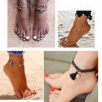 MWOOT 9 Pièces Bracelets de Cheville Femme, Chaînes pour Habiller la Cheville Ajustable Boheme Coquillage Turquoise Été Plage Fête Accessoires