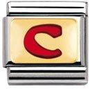 Nomination – 030202 – Maillon pour bracelet composable – Femme – Acier inoxydable et Or jaune 18 cts